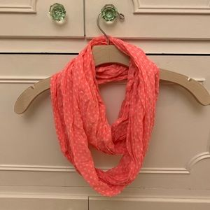 American Eagle Pink Polkadot Infinity Scarf